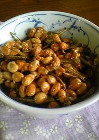 福豆と煮干しで甘辛常備菜