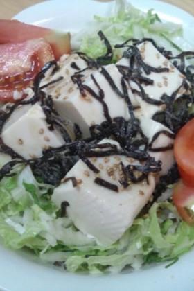 簡単!牛角風♡白菜と豆腐サラダ