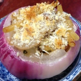 紫玉ねぎのオーブン焼き