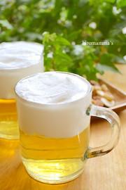 父の日に♪ビールで乾杯りんごゼリー♡の写真