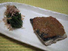 ∽∽中性脂肪撃退レシピ サバのゴマ味噌焼き∽∽