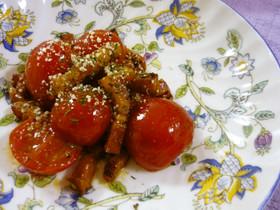 ベーコン油de香ばしいミニトマト炒め☆彡