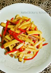 豆腐干と細切り野菜の炒めもの