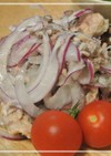 材料3つ!鯖缶と紫玉葱さっぱりサラダ