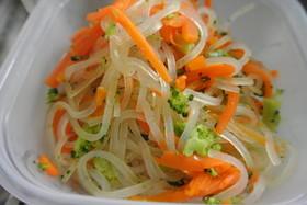 簡単くっつかないお弁当用春雨サラダ