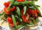 いんげんとプチトマトの黒ゴマ和えサラダ