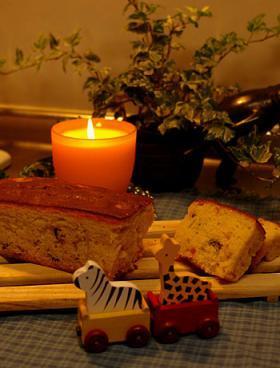 ♪天ぷら粉&オリーブオイルで?フルーツパウンドケーキ♪