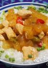夏ばてに我が家流な中華粥