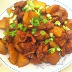 鶏肉とじゃがいもの中華風煮物