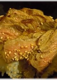 酵母液でマリネ~牛肉ステーキ丼