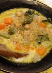 たっぷり野菜と大豆のミルクスープ