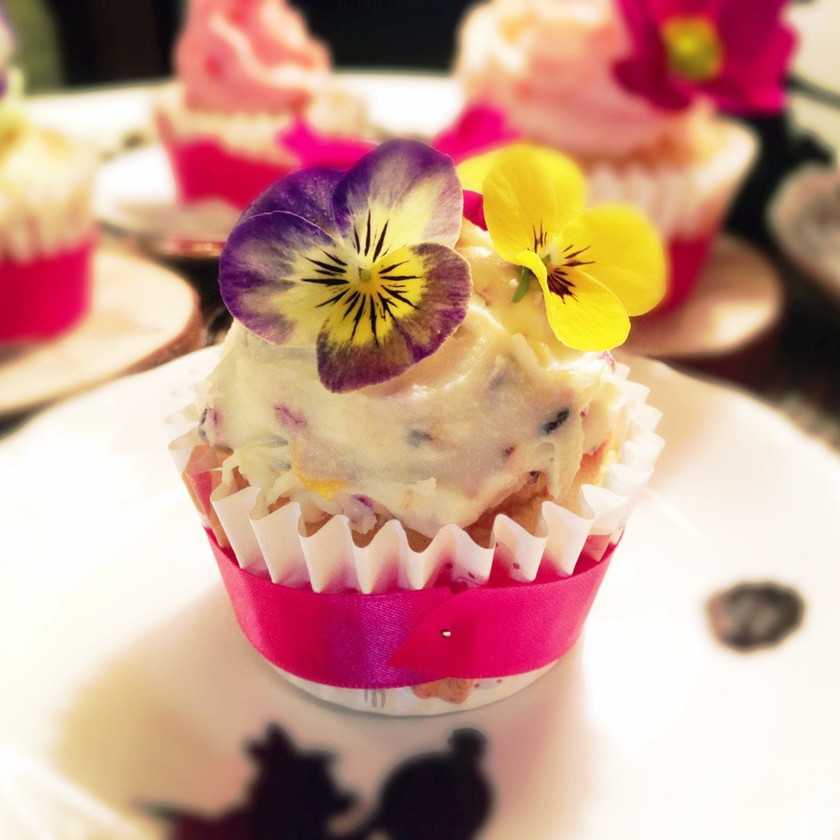 可愛い☆フラワーカップケーキ