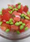 トマトとサーモンのサラダ風