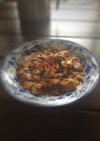 冷凍豆腐の麻婆豆腐