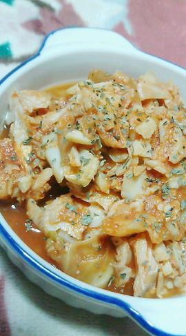 真鱈とキャベツのトマト煮込み