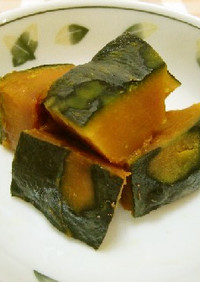 ★簡単!レンジで作る*かぼちゃの煮物*♪