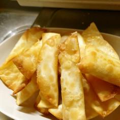 餃子の皮でパリパリチーズ揚げ