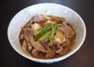レンジで楽うま♪ おかか風味の肉豆腐♫