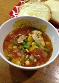 ANA機内販売のトマトスープ