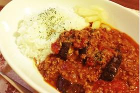 カフェ風☆茄子とトマトでキーマカレー風☆