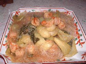 えびと青梗菜のピリ辛煮