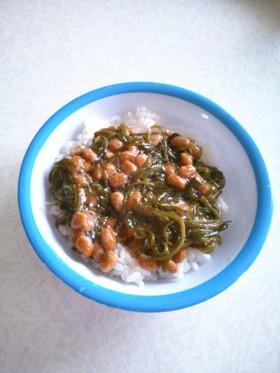 めかぶ納豆ご飯