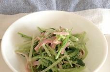 水菜と三つ葉のゴママヨ和え