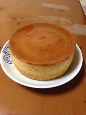 バレンタイン♡二層に分かれるプリンケーキ