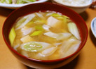 豆腐と長ねぎの味噌汁