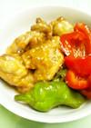 鶏肉と万願寺とうがらしのさっぱり煮