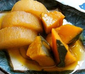 かぼちゃと大根の煮物