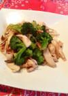 イカとブロッコリーの中華炒め