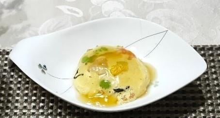 レンジで1分♪ 豆腐と卵で擬製豆腐