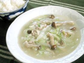 とろ~りあったか♪中華風白菜スープ