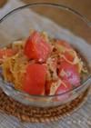 亜麻仁油で切り干し大根とトマトの和え物