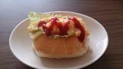 とろとろ卵とチーズのサンドイッチの写真
