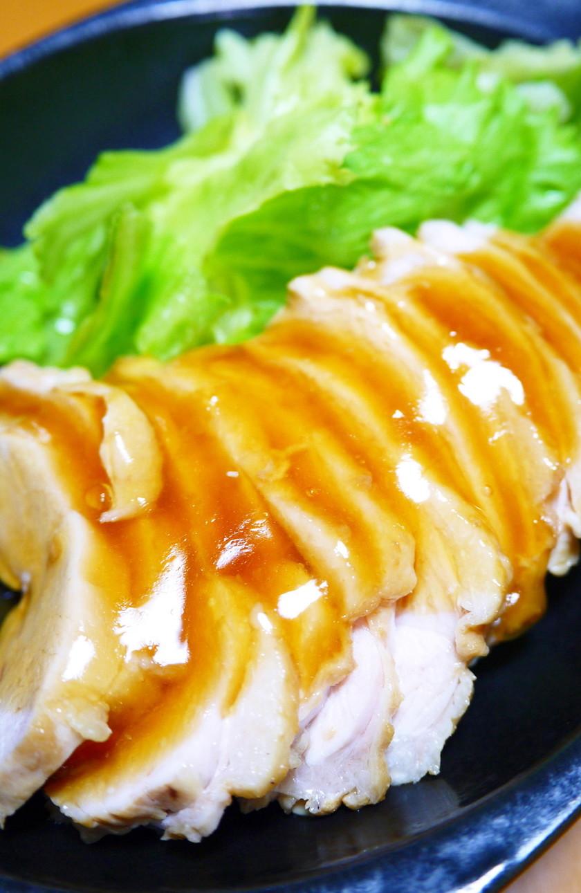 夏☆お酢でやわらか!鶏むね肉のさっぱり煮