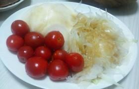 かぶ&新玉葱&ミニトマトの和風サラダ