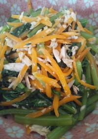 簡単もう一品♪小松菜とツナの炒めもの