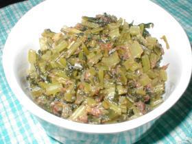 小かぶの葉の油炒め(ふりかけ)