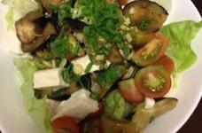 茄子と豆腐のサラダ