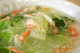 とろ~り旨、旨♪ 白菜と蟹の水晶煮