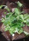 鰹の漬けとサラダ丼 アマランサス昆布ご飯