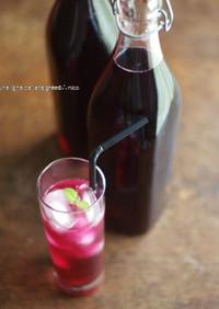 濃縮赤紫蘇ジュース。