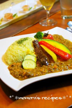 挽肉で簡単♬野菜たっぷりのキーマカレー