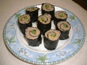 挽肉の海苔ロール