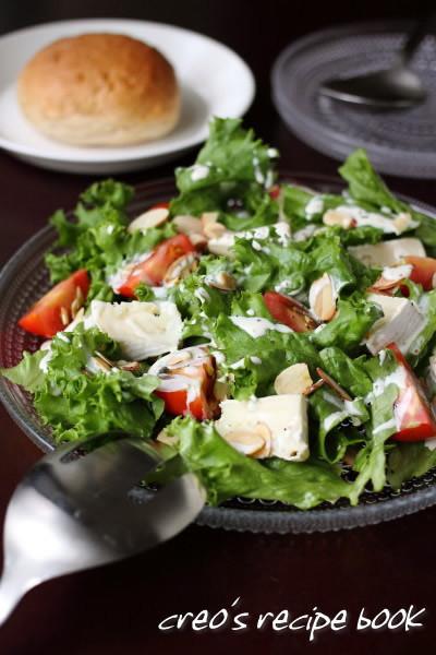 カマンベールとレタスのサラダ