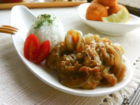 豚しゃぶ肉で柔らか生姜焼き定食♬