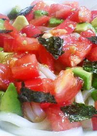 5分で完成♪アボカド&トマトの冷うどん