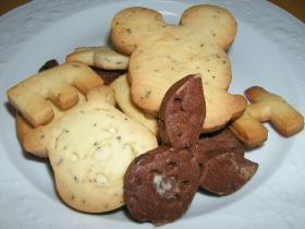 型抜きクッキー4種〜プレーン、ダブルチョコ、アールグレイ、スパイス〜